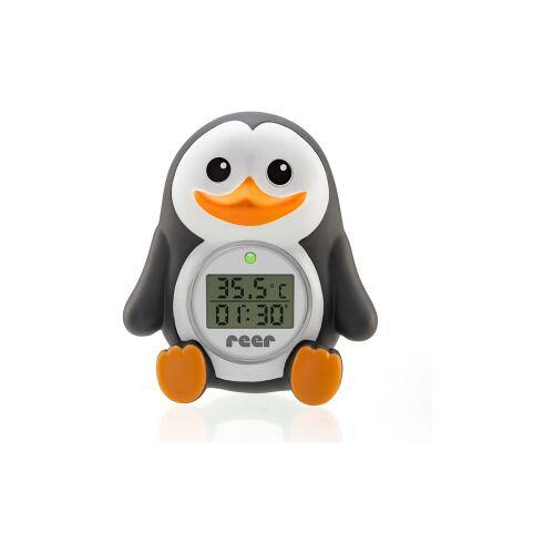 reer GmbH reer Digitales Badethermometer Pinguin, 2in1 digitales Badethermometer, 1x Badethermometer, 2x LR44 Batterien