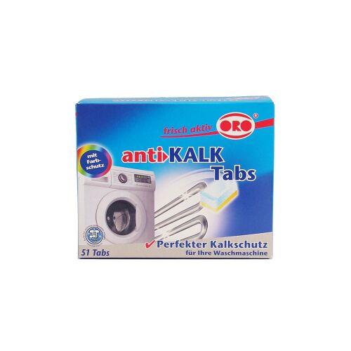 ORO-Produkte Marketing ORO®-frisch-aktiv anti-KALK für Waschmaschinen, Wasserenthärter Tabs, 1 Packung = 51 x 16 g Tabletten