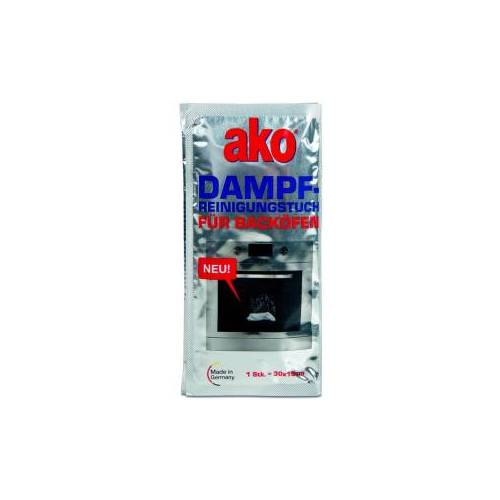 DELU-AKO-MINKY GmbH ako® Dampfreinigungstuch für Backöfen, Dampfreinigungs Sachet zur schnellen und leichten Reinigung für Backöfen, 1 Packung = 3 Stück