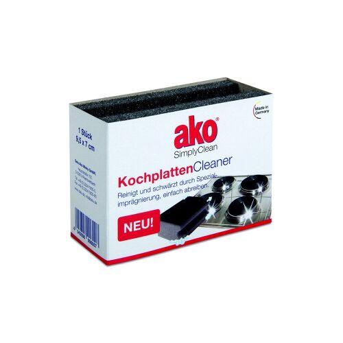 DELU-AKO-MINKY GmbH ako® Kochplatten Cleaner Schwamm, Zur Reinigung und Schwärzung der Kochplatten, 1 Packung = 1 Stück