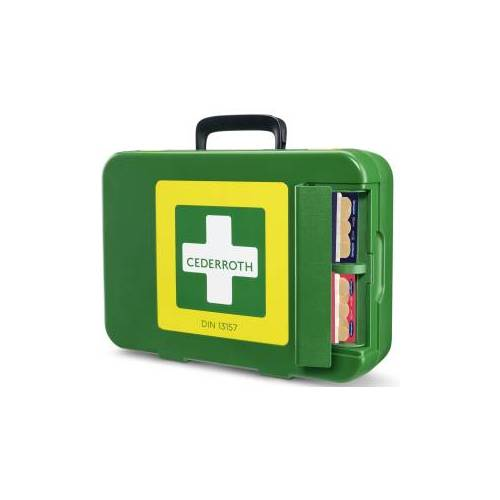 Orkla Care AB (Cederroth) Cederroth First Aid Kit Erste-Hilfe-Koffer DIN 13157, Robustes und strapazierfähiges Erste-Hilfe-Set, mit Pflasterspender, Maße (B x H x T): 420 x 300 x 118 mm