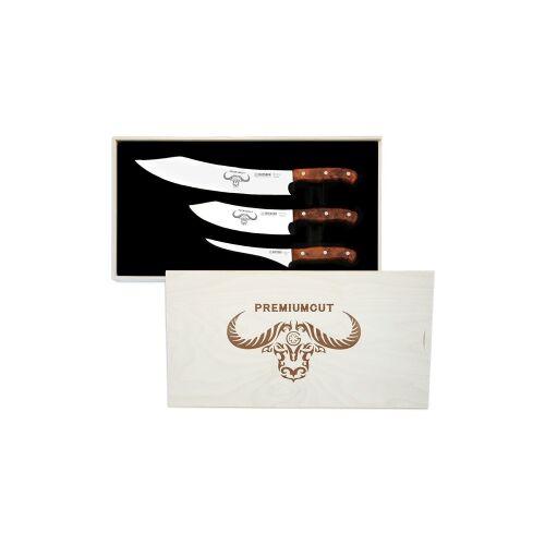 Johannes Giesser Messerfabrik GmbH Giesser No. 1 PremiumCut Messerset, Besteht aus dem BBQ No. 1, dem Chefs No. 1 und dem Filet No. 1., Design: Tree of Life