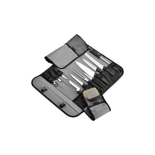 Johannes Giesser Messerfabrik GmbH Giesser Messertasche, schwarz, Alle wichtigen Messer und Werkzeuge enthalten, 13-teiliges Set