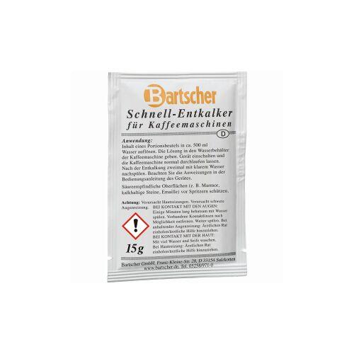 Bartscher GmbH Bartscher Kaffeemaschinen-Entkalker, Schnell-Entkalker für Kaffeemaschinen, 1 Karton = 30 Beutel á 15 g