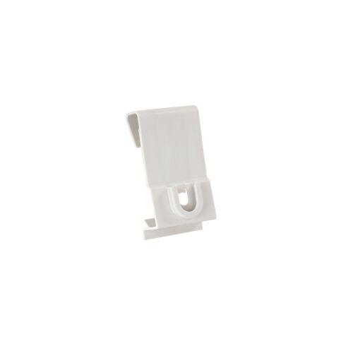 TTS Tecno Trolley System TTS weiße Platte für Stielhalterung, Wandhalterung für Smile Abfallsammler aus stabilem Kunststoff, 1 Set = 2 Halterungen