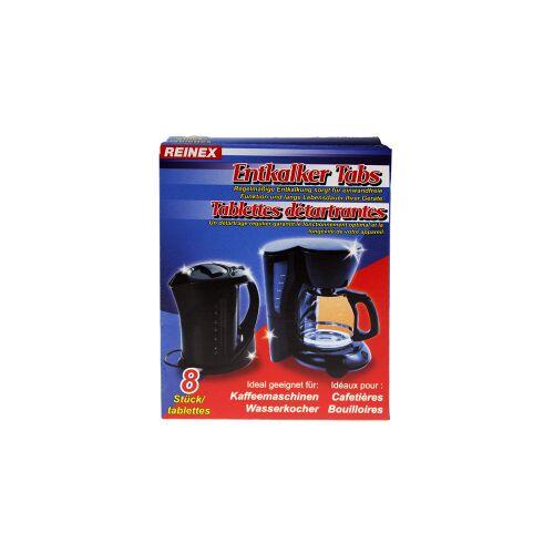 Reinex Chemie GmbH Reinex Entkalker Tabs, Ideal geeignet für Kaffeemaschinen und Wasserkocher, 1 Packung = 8 Stück