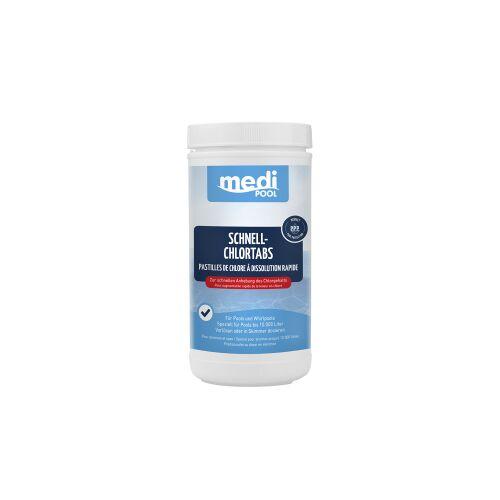 mediPOOL GmbH mediPOOL Schnell-Chlor Tabs 20 g, Granulat zur sofortigen Anhebung des Chlorgehalts, 1 kg - Dose