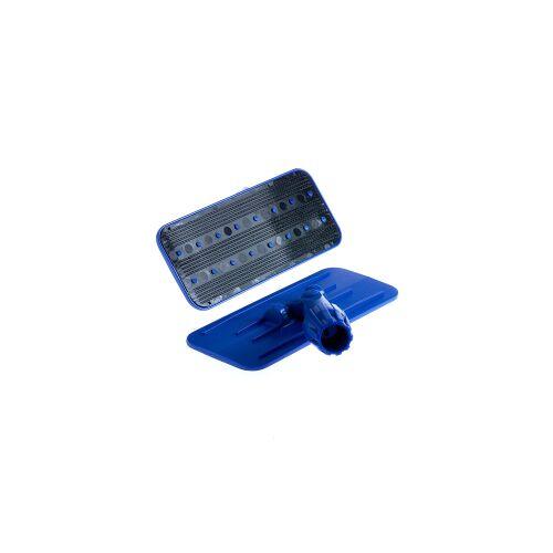 Floorstar GmbH Floorstar Padhalter, Maße: 12 x 25 cm, Kunststoffhalter mit Stielhalterung, Farbe: blau