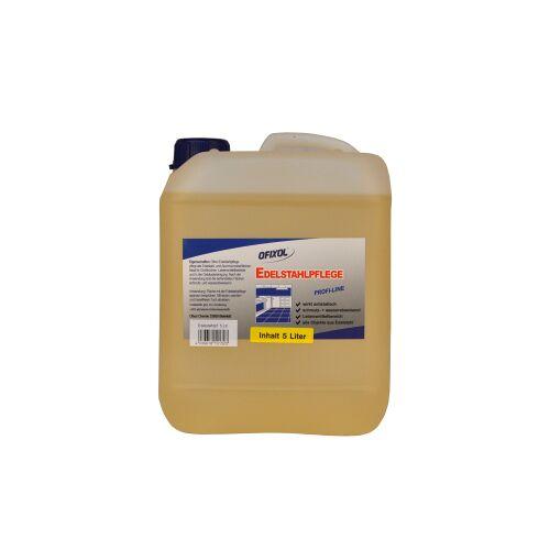 Ofixol Edelstahlpflege, pflegt alle Edelstahl- und Aluminium-Oberflächen, 5 l - Kanister