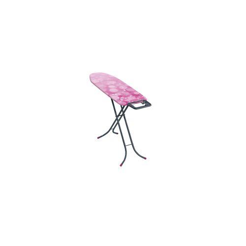 Leifheit AG LEIFHEIT Classic M Basic 60YE Bügeltisch, Bügelbrett mit fester Bügeleisenablage, Farbe: grey pink