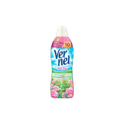 Henkel AG & Co. KGaA Vernel Wild-Rose Weichspüler , Konzentrat mit natürlichen Rosen-Essenzen, 1 Liter - Flasche