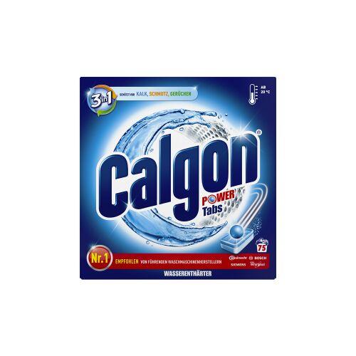 Calgon 3 in 1 Waschmaschinen-Wasserenthärter Power-Tabs, Waschmaschinentabs schützt die Waschmaschine gegen Kalk, Schmutz und Gerüchen, 1 Packung = 75 Tabs