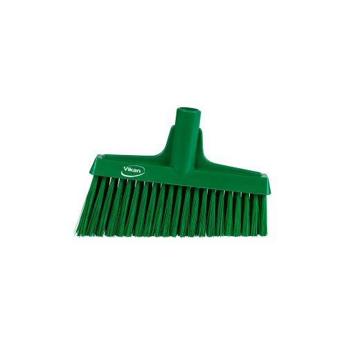 Vikan GmbH Vikan Besen mit Winkelschnitt, 260 mm, Besenkopf mit ergonomischem Fegewinkel, Farbe: grün