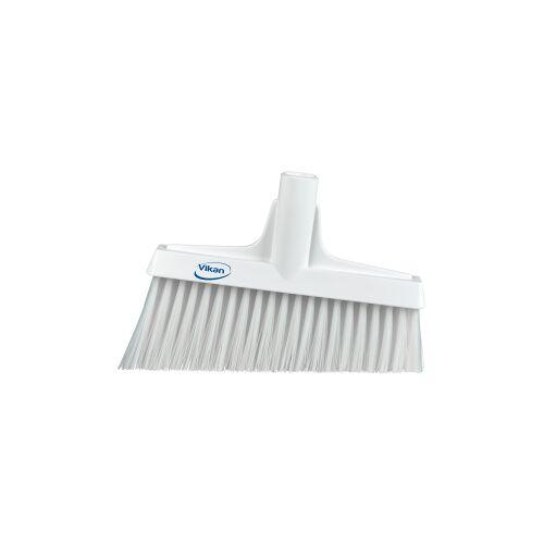 Vikan GmbH Vikan Besen mit Winkelschnitt, 260 mm, Besenkopf mit ergonomischem Fegewinkel, Farbe: weiß