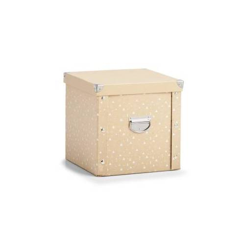 Zeller Present Handels GmbH Zeller Weihnachtskugelbox, Aufbewahrungsbox für Weihnachtskugeln aus Pappe, Maße: ca. 30 x 30 x 29 cm natur/gold