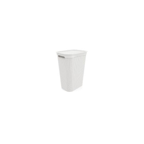 Rotho Kunststoff AG Rotho BRISEN Wäschesammler, 50 Liter, Wäschekorb aus Kunststoff, Farbe: weiß