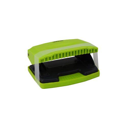 STYLEX Schreibwaren GmbH STYLEX® Locher mit Anschlagschiene, Locher einstellbar auf alle gängigen Formate, 1 Stück, farbig sortiert
