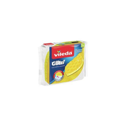 Vileda GmbH Vileda Glitzi Geschirrschwamm, Entfernt hartnäckigen Schmutz ohne empfindliche Oberflächen zu verkratzen, 1 Packung = 1 Stück
