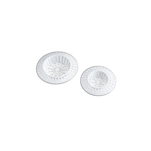 Wenko-Wenselaar GmbH & Co. KG WENKO Abfluss-Sieb, Beugt Abflussverstopfung und Geruchsbildung vor, 1 Set = 4 Stück, Farbe: weiß