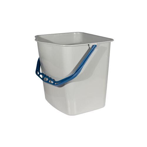 SPRINTUS GmbH SPRINTUS Eimer, grau, Behälter für SPRINTUS Systemwagen, Volumen: 27 Liter, blauer Henkel