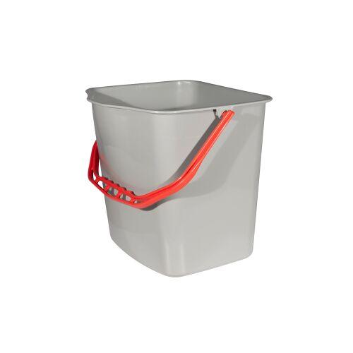 SPRINTUS GmbH SPRINTUS Eimer, grau, Behälter für SPRINTUS Systemwagen, Volumen: 27 Liter, roter Henkel