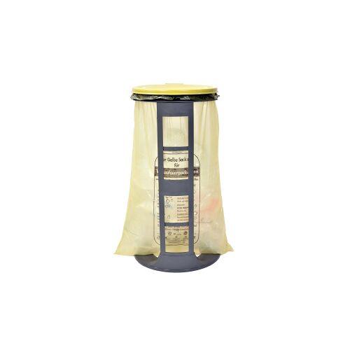 Gies GmbH & Co.  Kunststoffwerk KG Gies ecoline Müllsackständer, gelb, Abfallsackständer geeignet für Müllsäcke bis 120 l, Maße: Ø 40 x 76 cm
