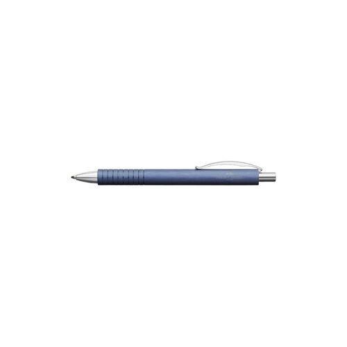 Faber-Castell Aktiengesellschaft Faber Castell Essentio Aluminium Kugelschreiber, Schreibstift mit einem Schaft aus mattem Aluminium, Farbe: blau
