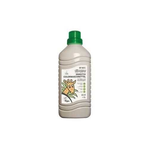 Weco GmbH Giraffe Sensitiv Colorwaschmittel, Farb- und duftstofffreies Flüssigwaschmittel, 1 Liter - Flasche, ca. 15 Waschladungen