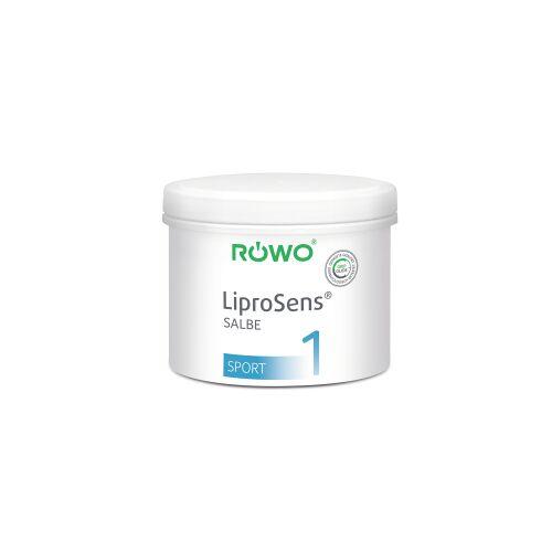 Sporto-med. GmbH RÖWO® LiproSens Salbe 1, kühlend, Kühlsalbe vermindert die Reibung bei der Massage, 500 ml - Dose