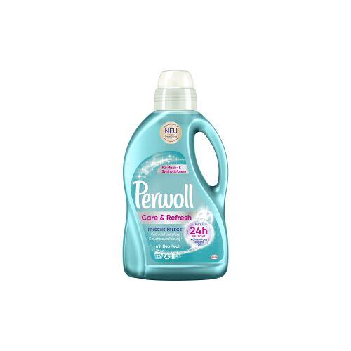 Henkel AG & Co. KGaA Perwoll Care & Refresh Waschmittel, Vollwaschmittel neutralisiert schlechte Gerüche und setzt Duftstoffe frei, 1,44 Liter - Flasche für ca. 24 Waschladungen