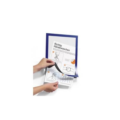 DURABLE · Hunke und Jochheim GmbH & Co. KG DURABLE Duraframe®, Handhygiene Info-Rahmen, A4, Informationsrahmen für Hygienevorschriften in Büro und Betrieb, 1 Beutel = 2 Stück, dunkelblau