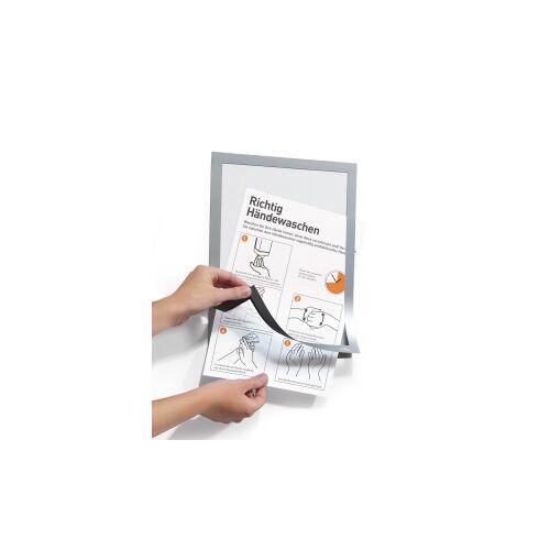DURABLE · Hunke und Jochheim GmbH & Co. KG DURABLE Duraframe®, Handhygiene Info-Rahmen, A4, Informationsrahmen für Hygienevorschriften in Büro und Betrieb, 1 Beutel = 2 Stück, silber