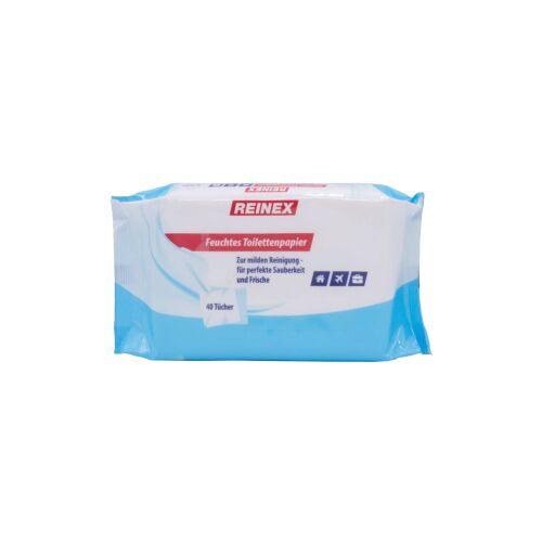 Reinex Chemie GmbH Reinex Feuchtes Toilettenpapier, Sanfte Feuchttücher für die tägliche Sauberkeit, 1 Packung = 40 Stück