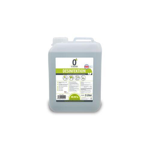 O3 Group GmbH O3 SOLUTION Desinfektionsmittel, Breitbanddesinfektionsmittel zur Hand- und Oberflächendesinfektion, 3 Liter - Kanister