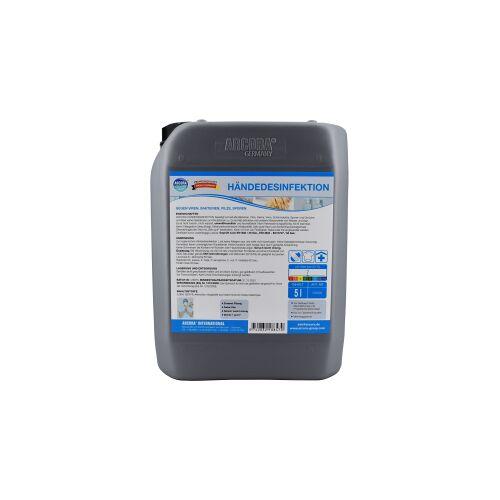 Arcora Händedesinfektion, Nicht reizendes Desinfektionsmittel zur hygienischen Händedesinfektion, 5 Liter - Kanister