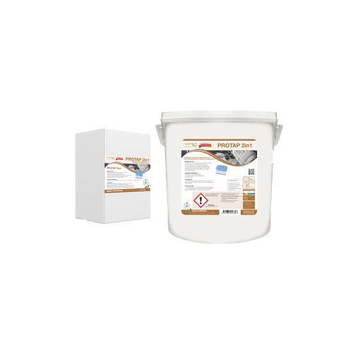 ARCORA International GmbH PROTAP 2 in 1 Geschirrtabs, Hochkonzentrierte Spülmaschinentabs mit integrierter Klarspülkomponente, 1 Eimer = 160 Tab