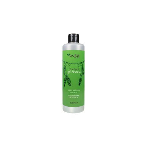 HEINRICH HAGNER GmbH & Co evita Home The Spirit of Senses Flüssige Handseife, Haushaltshelfer als Wohnaccessoires, 0,5 Liter - Flasche, Zitronenminze