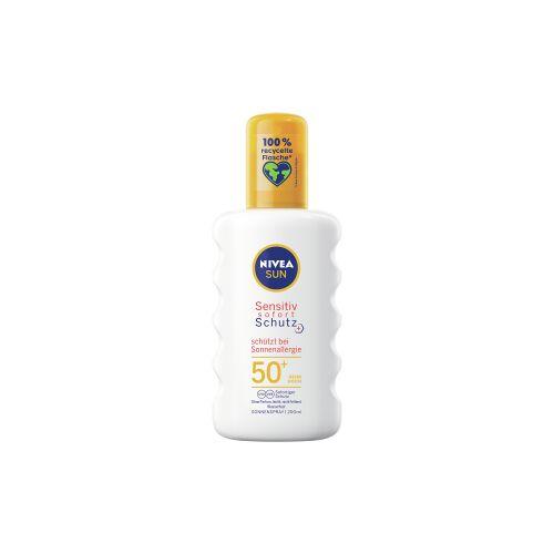 Beiersdorf AG NIVEA Sun Sensitiv Sonnenallergie Sonnenspray, LSF 50+, Sehr hoher Sonnenschutz für sensible Haut, 200 ml - Trigger Sprühflasche