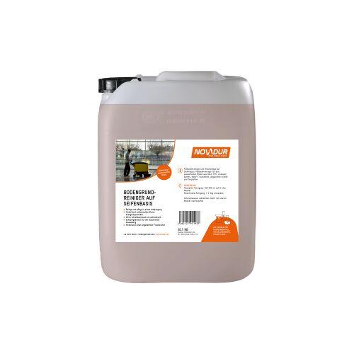 HOEBINK Reinigungsmittel GmbH NOVADUR Bodengrundreiniger Seifenbasis, Fußbodenreiniger und Wischpflege auf Seifenbasis, 10 l - Kanister