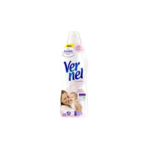 Henkel AG & Co. KGaA Vernel Weichspüler Hautsensitiv, Konzentrat für weichere Wäsche mit frischem Duft , 0,9 Liter - Flasche