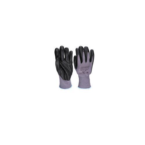 BINGOLD GmbH & Co. KG Bingold FS 442 Universalhandschuhe, Feinstrick-Handschuhe aus Nylon mit Nitril-Schaum-Beschichtung und Noppen, 1 Paar, Größe: 9