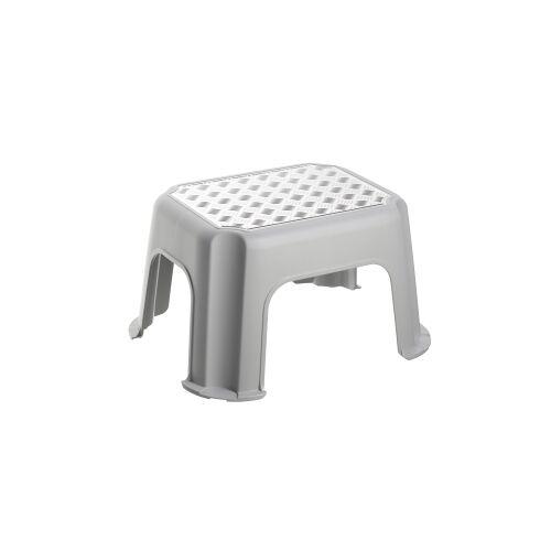 Rotho Kunststoff AG Rotho PASO Trittschemel, Tritthocker aus Kunststoff, Farbe: silber