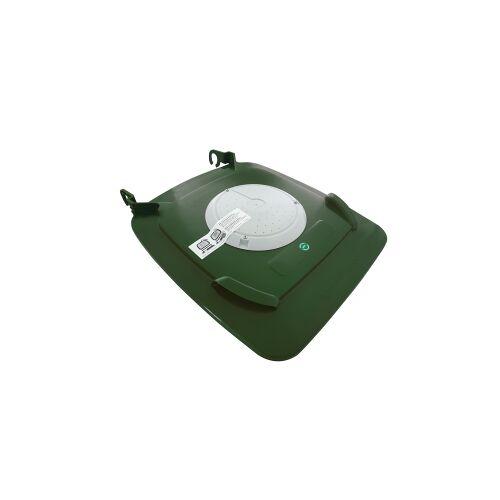 Biologic Clip-Filterdeckel für Mülltonne, Bio-Deckel gegen Maden und Gestank aus der Bio- bzw. Speiserestetonne, für 240 Liter Tonne