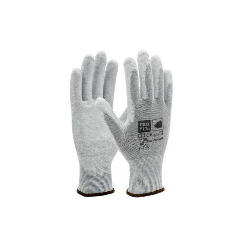 Fitzner GmbH & Co. KG Fitzner ESD PU-Handschuh, Atmungsaktive Handschuhe geeignet für die Mikroelektronik, 1 Packung = 12 Paar, Größe: 8
