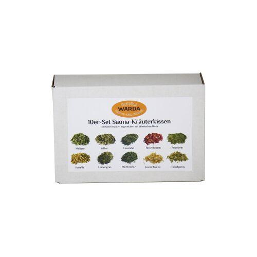 WARDA-DUFTÖLE Sauna Kräuterkissen, Für das Dampfbad oder Verdampfergerät in Saunakabinen, 1 Set = 10 Kräuterkissen, gemischt