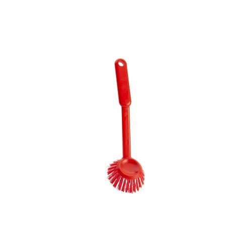 haug bürsten Haug Spülbürste, rund, Geschirrbürste mit Polyester PBT Besatzmaterial, Komplettfarbe: rot