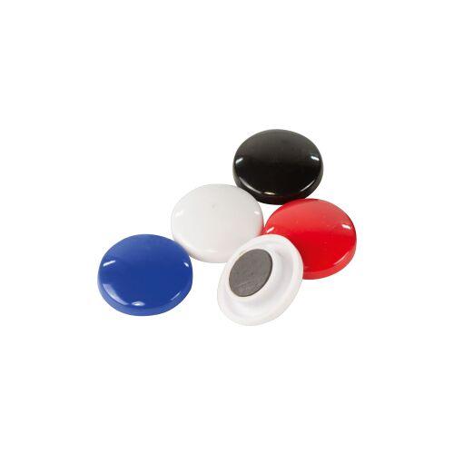 STYLEX Schreibwaren GmbH STYLEX® Kunststoffmagnete, Runde Magnete für den Kühlschrank oder andere Oberflächen, 1 Packung = 5 Stück, farbig sortiert