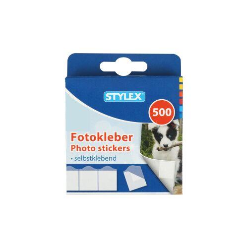 STYLEX Schreibwaren GmbH STYLEX® Fotokleber, Selbstklebende Fotoklebestreifen in praktischer Packung, 1 Packung = 500 Stück