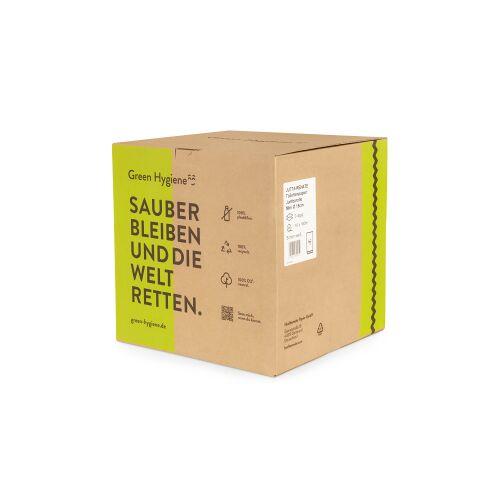 Huchtemeier Papier GmbH Green Hygiene® JUTTA-RENATE Toilettenpapier, 2-lagig, Umweltfreundliches Jumborollen-Klopapier aus 100% recyceltem Papier, 1 Karton = 16 Rollen