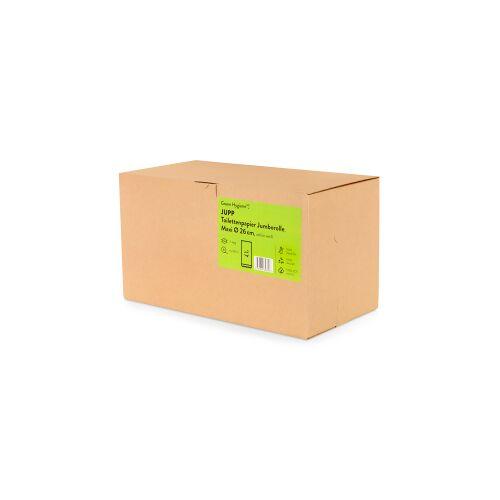 Huchtemeier Papier GmbH Green Hygiene® JUPP Toilettenpapier, 2-lagig, Umweltfreundliches Jumborollen-Klopapier aus 100% recyceltem Papier, 1 Karton = 6 Rollen